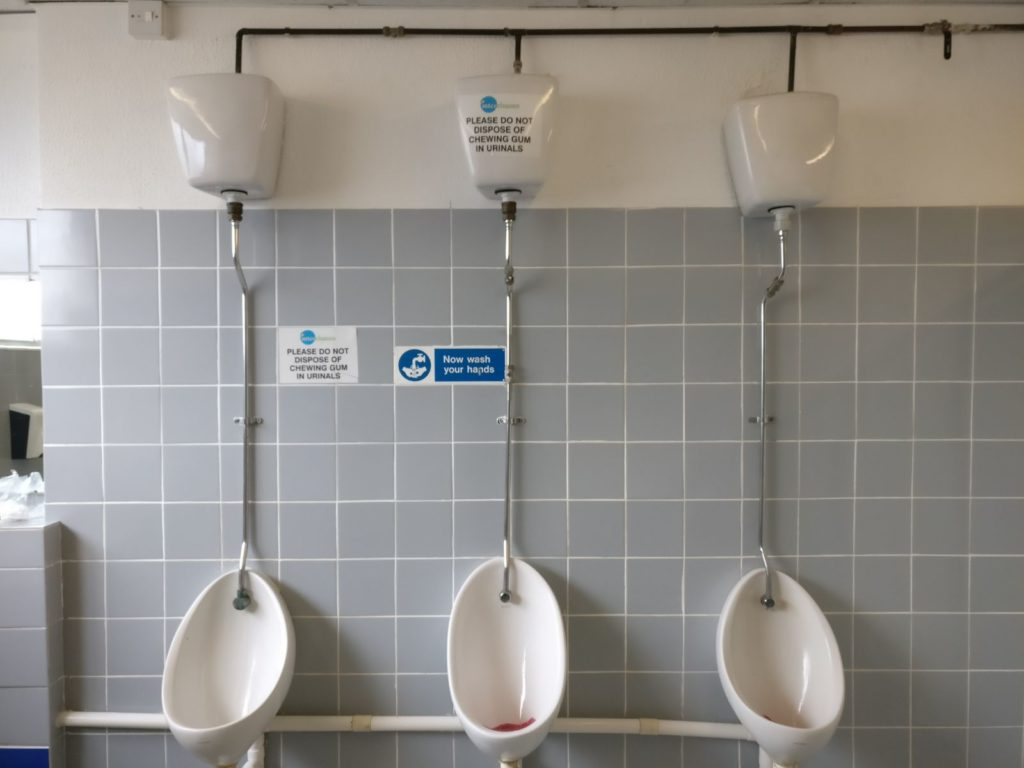 commercial blocked urinals